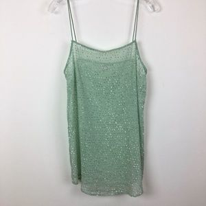 Intimately Free People sparkle sheer cami LG